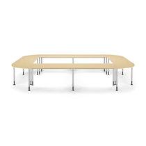 Mesa para la enseñanza moderna / de MDF / de haya / de metal pintado