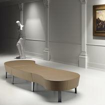 Banqueta modular / moderna / de tela / de metal