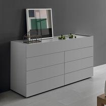 Cómoda moderna / de MDF lacado / para habitación de hotel / gris