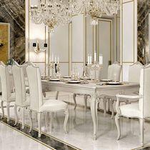 Mesa de comedor de estilo / de madera lacada / rectangular / extensible