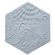 Baldosa hidráulica hexagonal / de interior / de pared / con motivos
