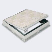 Trampilla de inspección para pavimento / cuadrada / rectangular / de metal