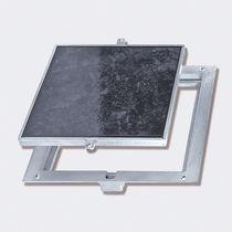 Trampilla de inspección para pavimento / cuadrada / de aluminio / de acero inoxidable
