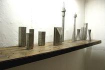 Estantería mural / moderna / de madera / de aluminio