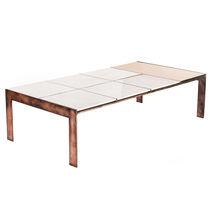 Mesa de centro moderna / de mármol / de latón / de acero