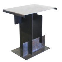 Mesita auxiliar moderna / de acero / rectangular / contract