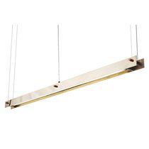 Luminaria suspendida / LED / lineal / de latón