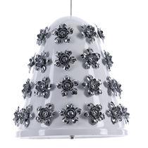 Lámpara suspendida / de diseño original / de aluminio / de cuero