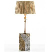 Lámpara de mesa / de diseño original / de piedra / de cobre