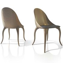 Silla de diseño orgánico / tapizada / de tejido / de fibra de vidrio