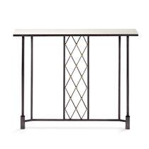 Mesa consola / clásica / de vidrio / de hierro