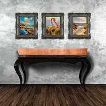 Consola clásica / de madera / de cobre / rectangular
