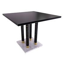 Mesa moderna / de mármol / cuadrada / contract