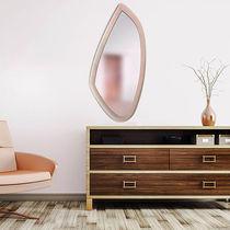 Espejo de pared / moderno / de cuero