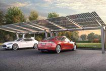 Cubierta para aparcamiento de acero / profesional / con paneles fotovoltaicos integrados