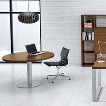 Mesa de reuniones moderna / de metal / de melamina / redonda