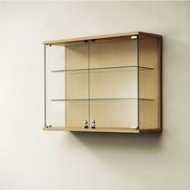 Vitrina moderna / de pared / de vidrio / de madera