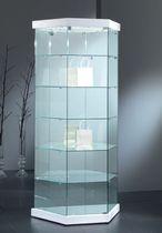 Vitrina moderna / de pie / de vidrio / con luz
