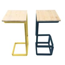 Taburete moderno / de madera / de acero / profesional