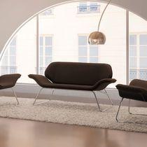 Sofá moderno / de tejido / de cuero / de metal