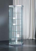 Vitrina moderna / de pie / de vidrio / de madera lacada
