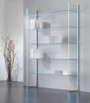 Expositor de pared / multiusos / para ropa / de vidrio