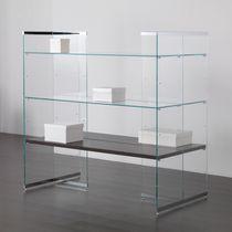 Expositor multiusos / para ropa / de madera / de vidrio