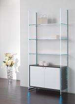 Expositor multiusos / de madera / de vidrio / profesional