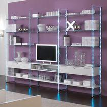 Mueble TV moderno / de madera / de vidrio / modular
