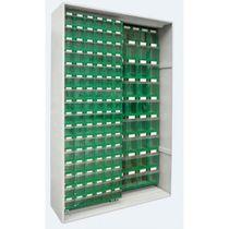 Armario de oficina alto / de metal / con puerta corredera / moderno