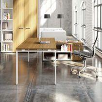 Escritorio de madera / moderno / profesional / con espacio de almacenamiento