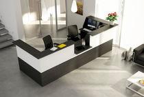 Mostrador de recepción de madera / de metal