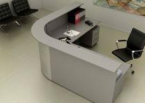 Mostrador de recepción modular / de esquina / de madera / de metal