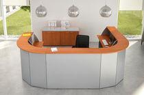 Mostrador de recepción modular / en arco de círculo / de madera / de metal