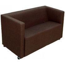 Sofá compacto / moderno / para zona de recepción / de cuero