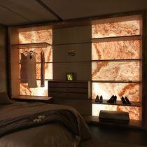 Vestidor de pared / moderno / de madera / con iluminación integrada