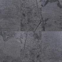 Placa de piedra de pizarra / para revestimiento interior / mural