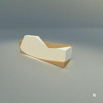 Mostrador de recepción modular / laminado / de mineral compuesto / con luz