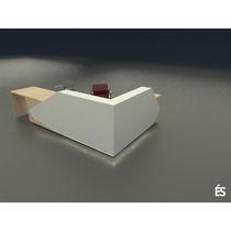 Mostrador de recepción modular / de madera / de mineral compuesto