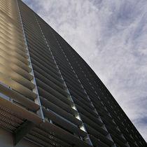 Celosía con lamas de aluminio / para fachada / para ventana / horizontal