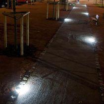 Luminaria empotrable de suelo / empotrable de pared / LED / redonda