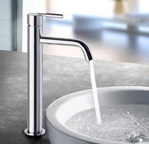 Grifo monomando para lavabo / de metal cromado / para baño / con 1 orificio