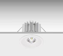 Iluminación de emergencia empotrable de techo / redonda / LED / de plástico