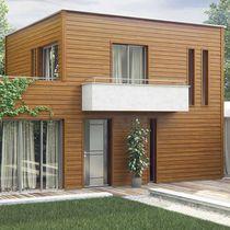 Revestimiento de fachada de aluminio / prelacado / en láminas / sostenible