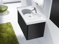 Mueble de lavabo moderno / de cerámica / suspendido