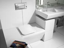 Mueble de lavabo moderno / laminado / de pie