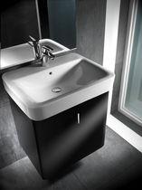 Mueble de lavabo moderno / de madera / suspendido