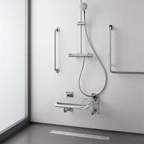 Asiento para ducha abatible / de acero inoxidable / de pared