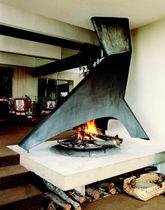 chimenea de lea de diseo original hogar abierto central