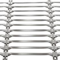 Malla metálica para fachada / para pantalla solar / de acero inoxidable / de malla larga